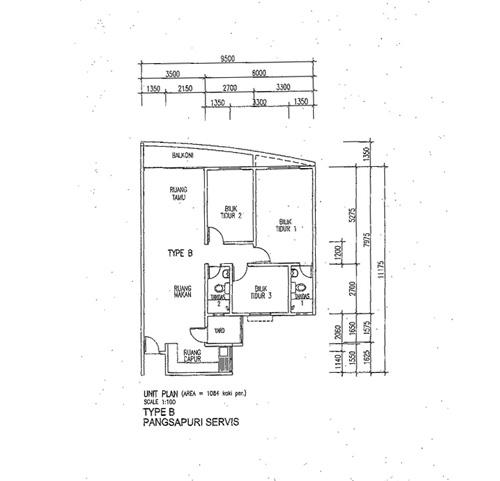 Putra Majestik Residential Type B Layout Plan