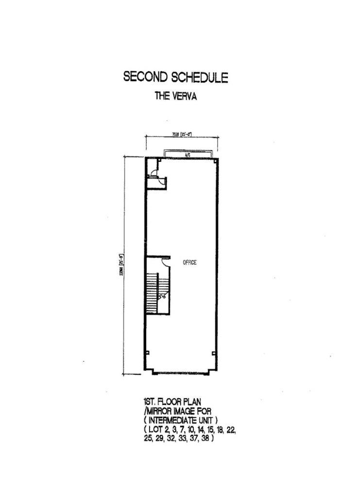 The Verva Puchong Jaya 1st Floor Plan