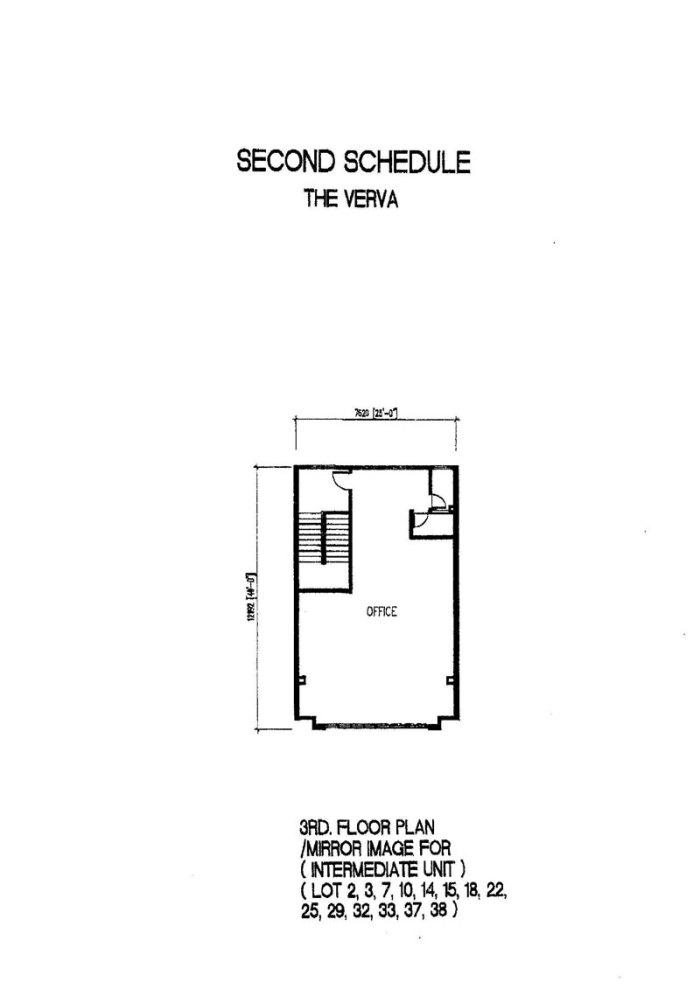 The Verva Puchong Jaya 3rd Floor Plan