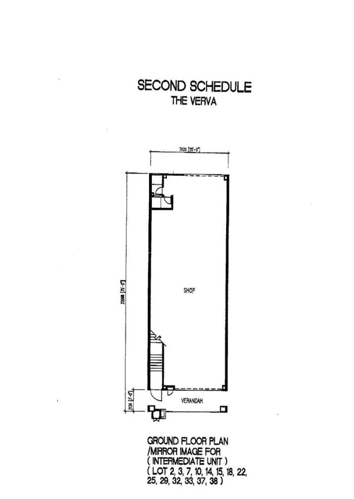 The Verva Puchong Jaya Ground Floor Plan