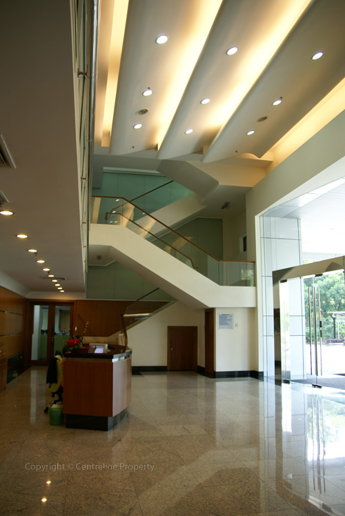 Corporate office reception area