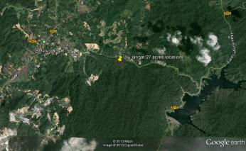 Ulu-Langat-27-acres-with-river-and-waterfall googlemap far