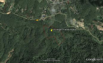 Ulu-Langat-27-acres-with-river-and-waterfall googlemap near