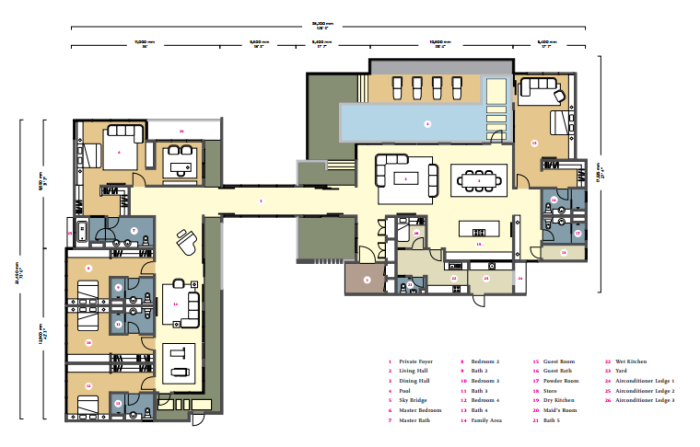 penthouse floor plan 1