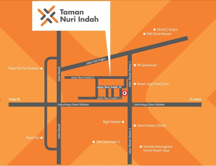 Nuri Indah Location map